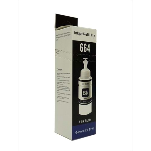 Epson, Siyah Refill Ink, Universal, T6641, 70ml, KTP